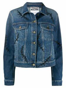 Moschino Scars denim jacket - Blue