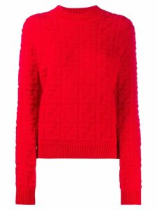 Fendi FF motif jumper - Red