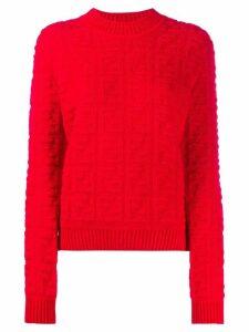 Fendi FF motif jumper - Red