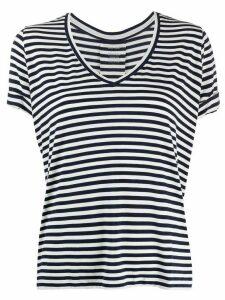 Majestic Filatures v-neck striped T-shirt - Black