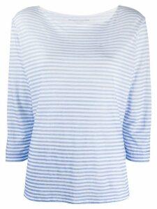 Majestic Filatures ombre striped linen T-shirt - Blue