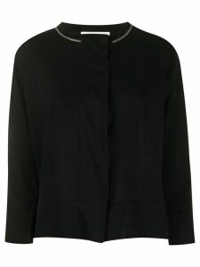 Fabiana Filippi beaded neck cardigan - Black