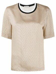 Peserico polka dot print T-shirt - NEUTRALS