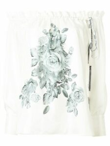 Dice Kayek off the shoulder floral top - White