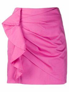 Derek Lam 10 Crosby Perinne Asymmetrical Cotton Sateen Ruched Mini