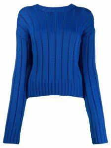 Derek Lam 10 Crosby Iola Neon Sweater - Blue