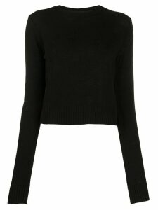 Jil Sander long-sleeved fine-knit top - Black