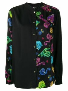 Versace Jeans Couture baroque print shirt - Black