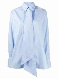 Rokh oversized tie shirt - Blue