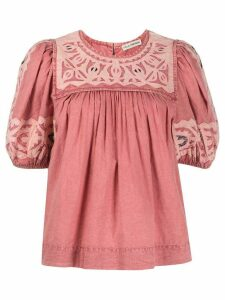 Ulla Johnson mola-effect puff-sleeved top - PINK