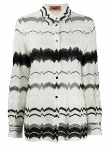 Missoni long-sleeved zig-zag shirt - White