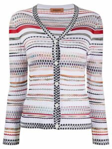 Missoni striped-pattern buttoned cardigan - White