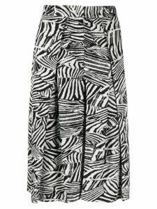 Missoni zebra-print pleated skirt - Black