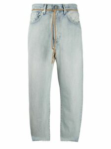 Levi's: Made & Crafted high rise cropped jeans - Blue