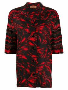 Missoni abstract-print short-sleeved shirt - Black