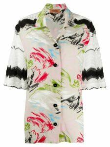 Missoni graphic-print short-sleeved shirt - NEUTRALS