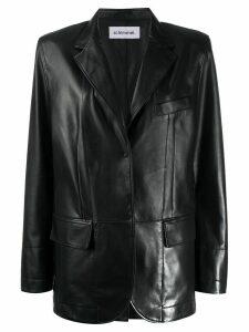 Sylvie Schimmel Standing Glove patent blazer - Black