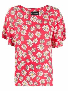 Moschino loose-fit daisy-print blouse - PINK