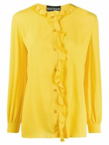 Boutique Moschino long-sleeved ruffled blouse - Yellow