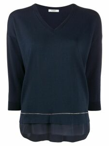 Peserico long-sleeve flared jumper - Blue