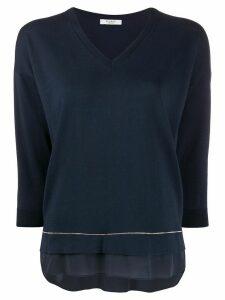 Peserico long-sleeve flared jumper - Blue