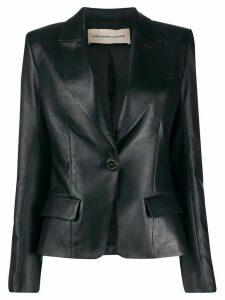 Alexandre Vauthier fitted leather blazer - Blue