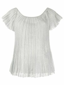 Missoni pleated boat neck T-shirt - Grey