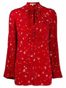 Derek Lam 10 Crosby Evadne Splatter Floral Blouse - RED RED