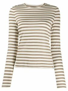 Theory round neck striped top - NEUTRALS