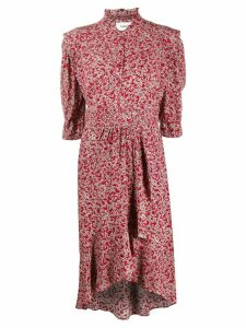 Ba & Sh Chelsea abstract floral-print dress - Red