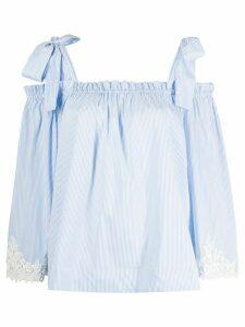 Blumarine lace detail blouse - White