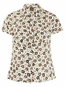 Aspesi floral print shirt - White