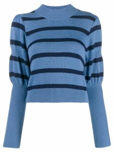 Derek Lam 10 Crosby puff sleeves knitted sweater - Blue