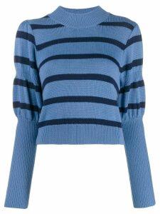 Derek Lam 10 Crosby puff sleeves knitted sweater - Blue