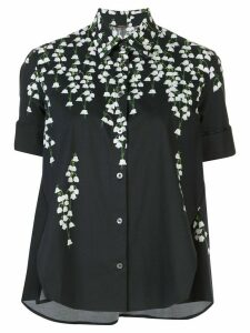 Adam Lippes printed trapeze shirt - Black