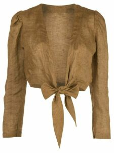 Lisa Marie Fernandez Pouf long sleeved blouse - Brown