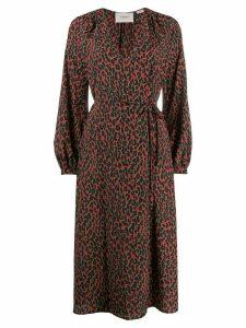 La Doublej leopard print wrap dress - Red