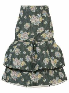 Brock Collection floral print midi skirt - Green