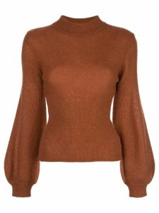 Nicholas mock neck jumper - Brown