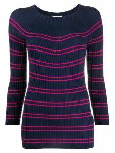 Escada Sport knitted striped jumper - Blue
