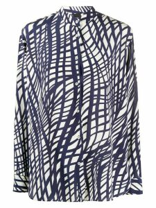 Aspesi all-over print blouse - Blue