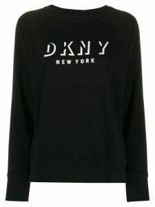 DKNY logo printed sweatshirt - Black