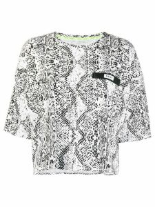 DKNY boxy snakeskin effect T-shirt - White