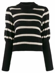 Derek Lam 10 Crosby puff sleeves knitted sweater - Black