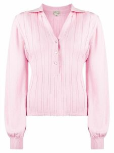 Temperley London ribbed knit top - PINK