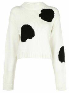 Tibi polkadot cropped jumper - White