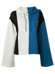 Être Cécile colour-blocked logo hoodie - Blue