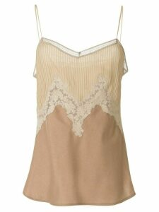 Gabriela Hearst Smith lace-embellished top - Brown