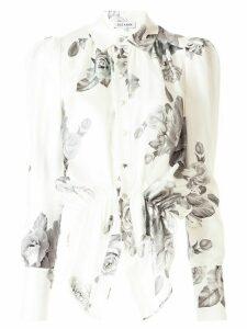 Dice Kayek floral print asymmetric shirt - Grey
