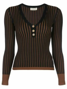 Nicholas Henley ribbed knit jumper - Black